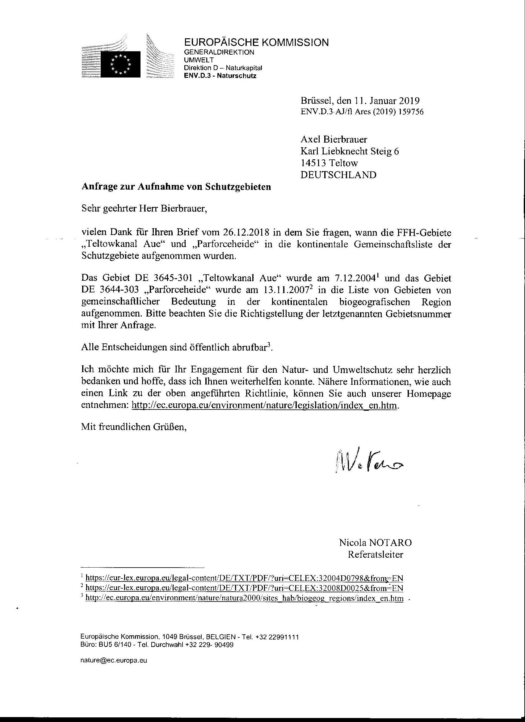 Europäische Kommission 2019 !