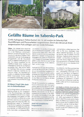 lokal.report Teltow August 2021 Teltow-Seehof