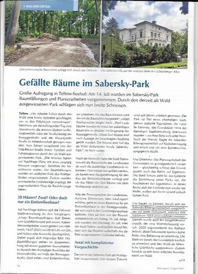 lokal.report August 2021 , Teltow-Seehof