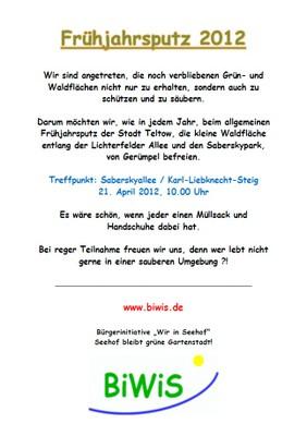 Flyer-Frühjahrsputz 2012