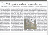 Villengarten verliert Denkmalstatus in Teltow Seehof !